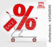 vector supermarket shopping... | Shutterstock .eps vector #614560040
