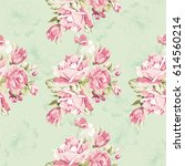 seamless floral pattern with... | Shutterstock .eps vector #614560214