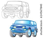 icons of car vector outline | Shutterstock .eps vector #614567840