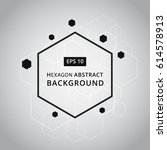 vector abstract background with ... | Shutterstock .eps vector #614578913