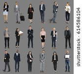 diversity business people set...   Shutterstock . vector #614586104