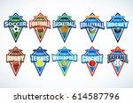 mega set of colorful sports... | Shutterstock .eps vector #614587796