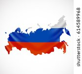 hanging russia flag in form of... | Shutterstock .eps vector #614589968