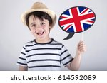 english speaking child | Shutterstock . vector #614592089