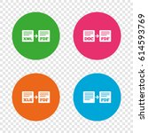 export file icons. convert doc... | Shutterstock .eps vector #614593769