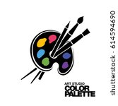 art palette icon | Shutterstock .eps vector #614594690