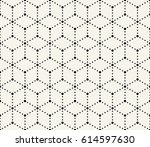 geometric dashed grid graphic... | Shutterstock .eps vector #614597630