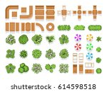 top view landscaping... | Shutterstock .eps vector #614598518