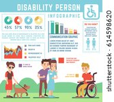 disability care  disabled ... | Shutterstock .eps vector #614598620