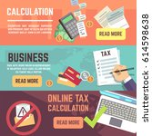 online tax accountanting ... | Shutterstock .eps vector #614598638