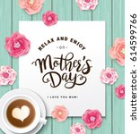 flat lay style mother s day... | Shutterstock .eps vector #614599766