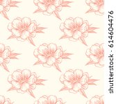 vector seamless pattern with... | Shutterstock .eps vector #614604476