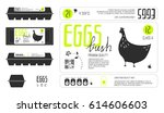 set of template labels for egg... | Shutterstock .eps vector #614606603