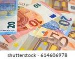 euro banknotes | Shutterstock . vector #614606978