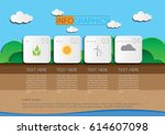 4 steps info graphic nature... | Shutterstock .eps vector #614607098