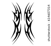 tattoo sketch tribal vector... | Shutterstock .eps vector #614607314