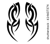tattoo tribal vector designs.... | Shutterstock .eps vector #614607374