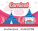 colorful carnival theme poster...