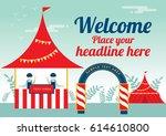 carnival theme poster design... | Shutterstock .eps vector #614610800