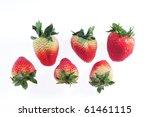 red strawberry on white | Shutterstock . vector #61461115