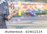 woman using smartphone and