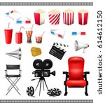 big set of collection elements... | Shutterstock .eps vector #614612150