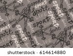 hand drawn sport pattern with...   Shutterstock .eps vector #614614880