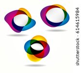 abstract banners set of round... | Shutterstock . vector #614615984