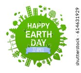 earth day card    Shutterstock . vector #614631929