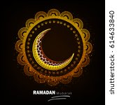 ramadan mubarak  vector... | Shutterstock .eps vector #614633840