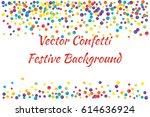 festive colorful round confetti ... | Shutterstock .eps vector #614636924
