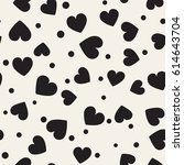 seamless monochrome pattern... | Shutterstock .eps vector #614643704