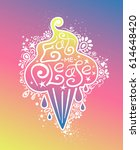 colorful illustration of ice... | Shutterstock .eps vector #614648420