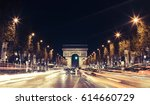 view of arc de triomphe and the ... | Shutterstock . vector #614660729