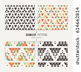 seamless set of triangle... | Shutterstock .eps vector #614662814