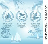 set of travel symbols and signs ... | Shutterstock .eps vector #614665724