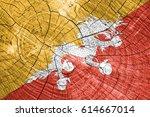 flag of bhutan | Shutterstock . vector #614667014