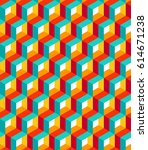 vector seamless pattern. modern ... | Shutterstock .eps vector #614671238