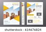 business brochure or flyer... | Shutterstock .eps vector #614676824