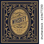 old whiskey label | Shutterstock .eps vector #614677250