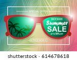 summer sale background with... | Shutterstock .eps vector #614678618