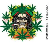 rastafarian coat of arms with...