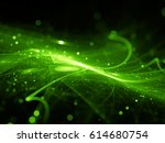 green glowing new technology in ... | Shutterstock . vector #614680754