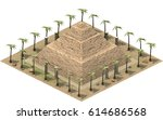 isometric buildings of ancient... | Shutterstock . vector #614686568