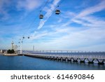 the cable cars in park of... | Shutterstock . vector #614690846