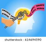 brain vector illustration.... | Shutterstock .eps vector #614694590