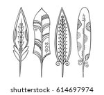 set of colorful hand drawn...   Shutterstock .eps vector #614697974