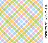 rainbow diagonal tartan...   Shutterstock .eps vector #614698148