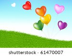 bunch of colorful heart shape... | Shutterstock . vector #61470007