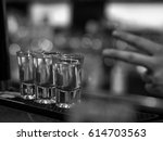 shooters on a bar | Shutterstock . vector #614703563